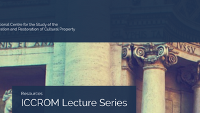 Resources: ICCROM Lecture Series
