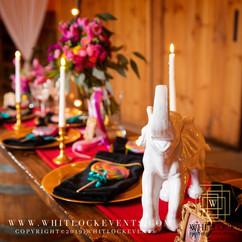 Carnival Bride Communial Table