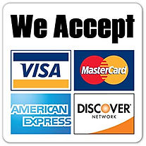 Image of major credit cards accepted for payment at Boynto Family Dental Arts