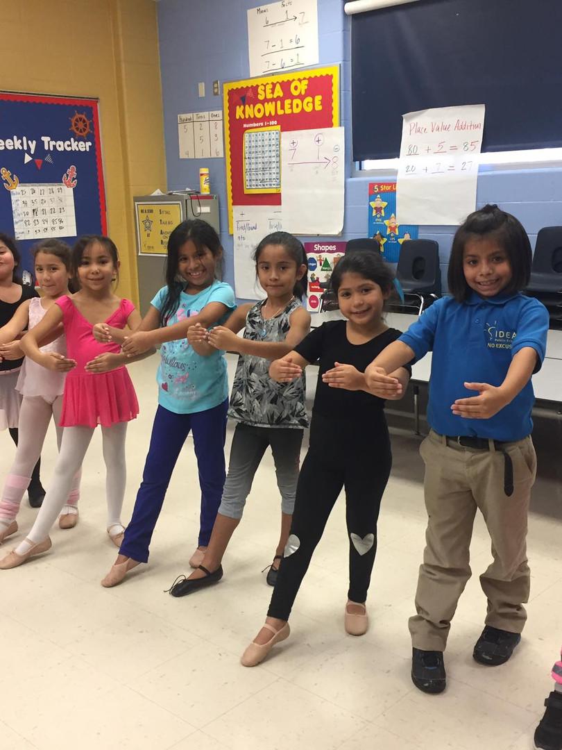 Ballet class at a school in the Rio Grande Valley - 2017