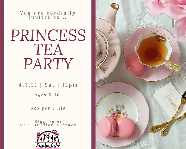Purple and Pink Vintage Tea Party Photo
