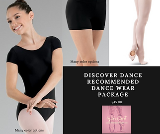 Tot & Kinder recommended dance wear pack