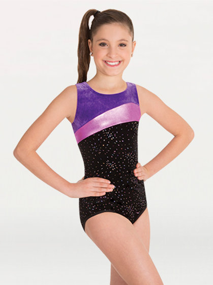 2334 Velvet Tank Metallic Leotard
