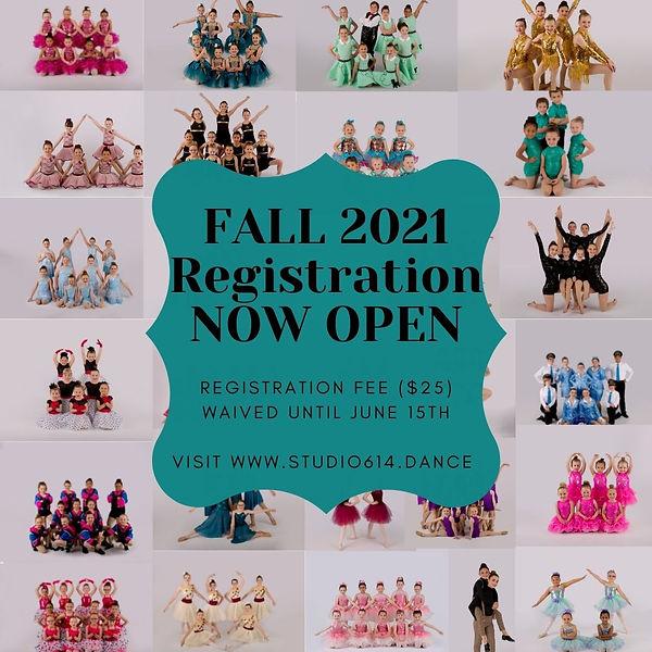 Copy of Fall 2021 Pre-Registration NOW O