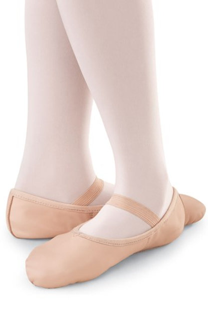 B40 Full Soul Leather Ballet Shoe (Tot/Kinder)