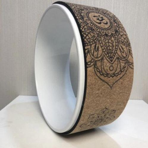 Wooden Yoga Wheel - White