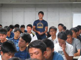 慶應野球部 下級生ミーティング