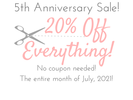 5  Years and a SALE to celebrate!