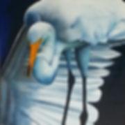 EGRET, WHITE BIRD, FLORIDA BIRD, WHITE EGRET, oil painting