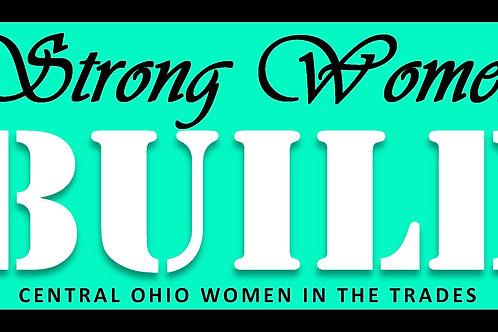 Strong Women BUILD sticker