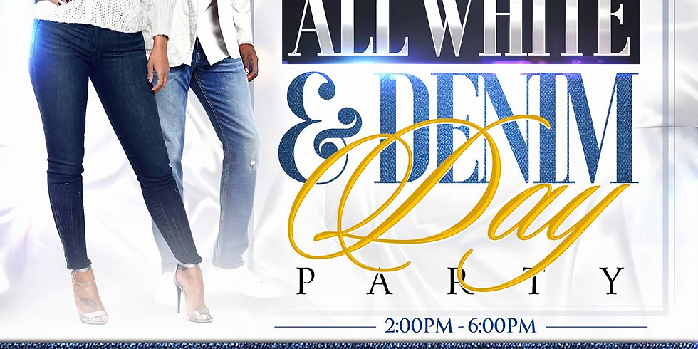 All White and Denim Day Party