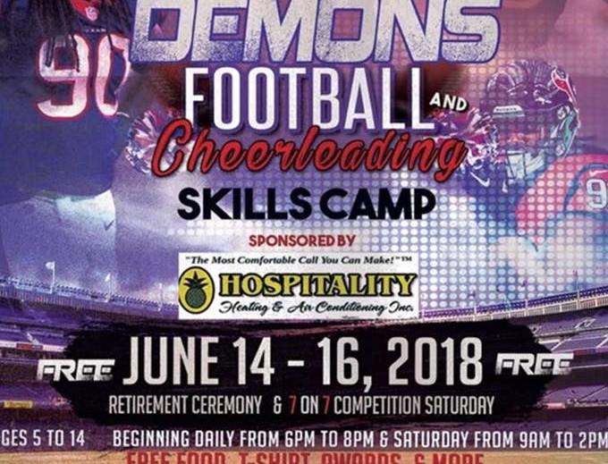 Sylvia Circle Demon and Cheerleading Skills Camp