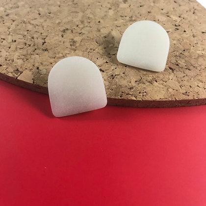 Unique White Geometric Earrings