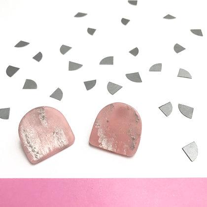 Pink Handmade Simple Studs