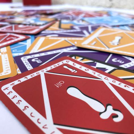 Cards close-up