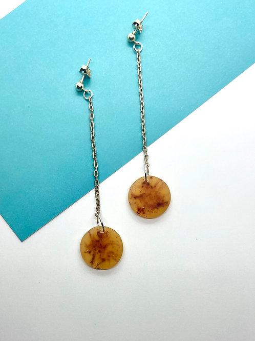 Handmade Resin and Chain Earrings