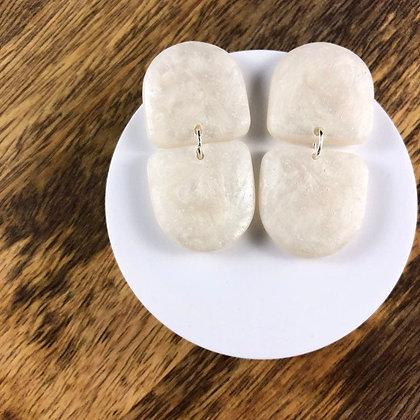 Unique White Geometric Studs
