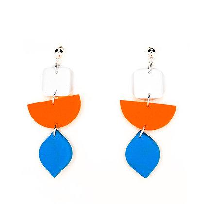 Damasc- Blanc, taronja, blau