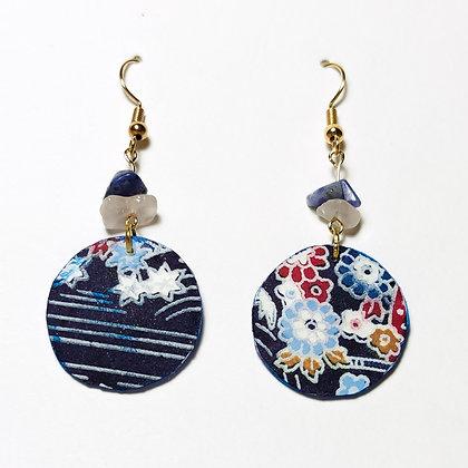Iwaki- Kimono blau, blanc, vermell