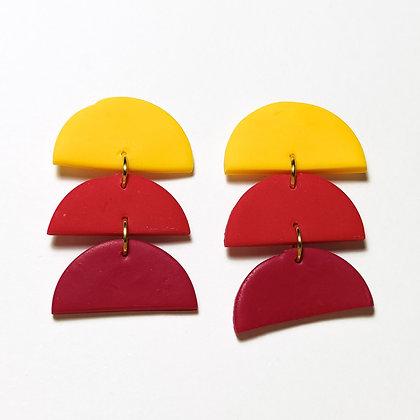 Ferrara- Groc, vermell, granat