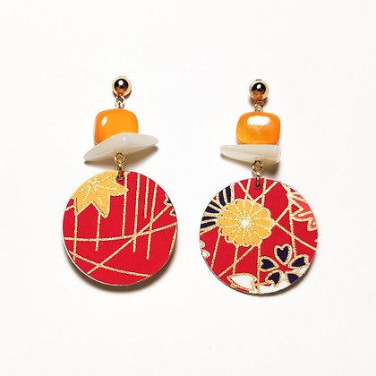 Iwaki- Vermell i taronja