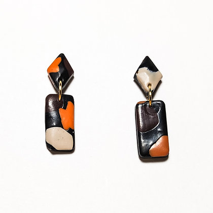 Mèrida- Taronja, marró, negre i beix