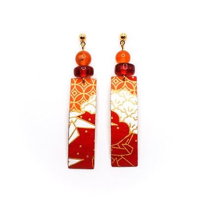 Kishiro- Vermell, taronja i blanc