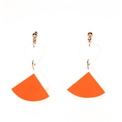 Ventall- blanc i taronja