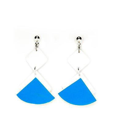 Ventall- blanc i blau