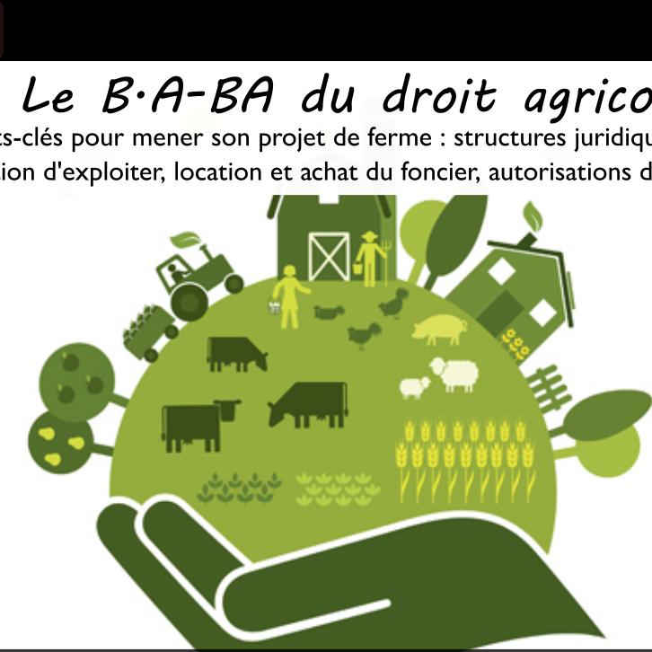 """Webinaire """"Le BA-BA du droit agricole"""""""