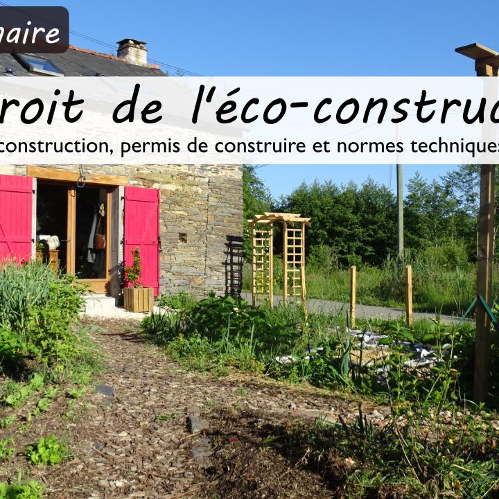 Webinaire Le droit de l'éco-construction
