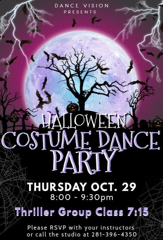 DV Party Flyer - October 2020 (Halloween