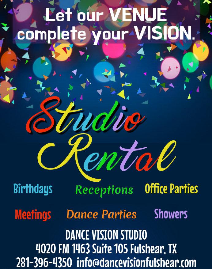 DV Ad - Studio Rental Party Background (