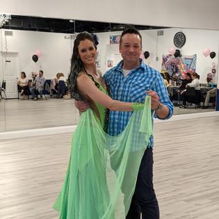 Josh & Mary B. dance Foxtrot