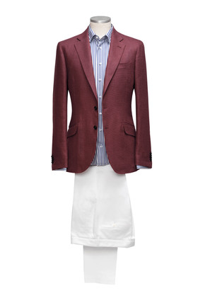 Wool and Silk Jacket and white cotton Ch