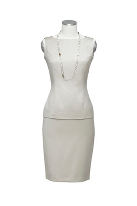 SIlk bodice and skirt