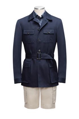 Navy Cotton Safari Jacket and cotton sho