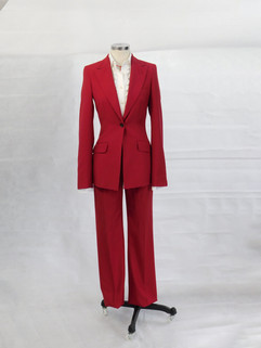 Red Ladies Two Piece Suit