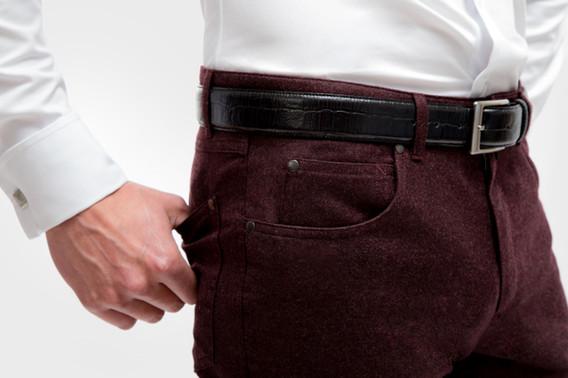 Maroon Corduroy 5 pockets