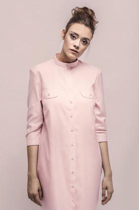 Pink blouse dress
