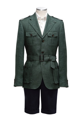 Green Linen Safari Jacket