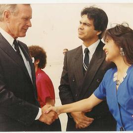 Lorri & Mike Meeting President George H.W. Bush