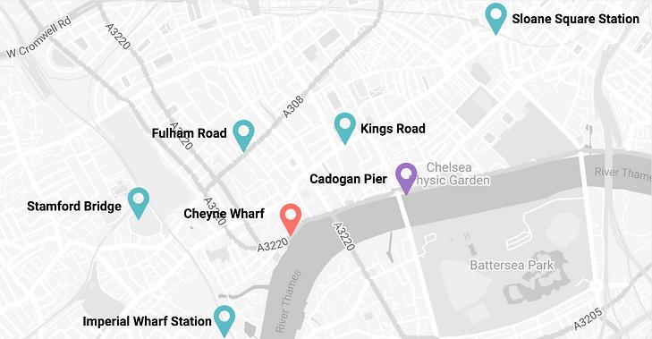 Cheyne Pier Map