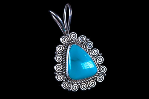 henning sterling pendant turquoise products necklace kristina silver green