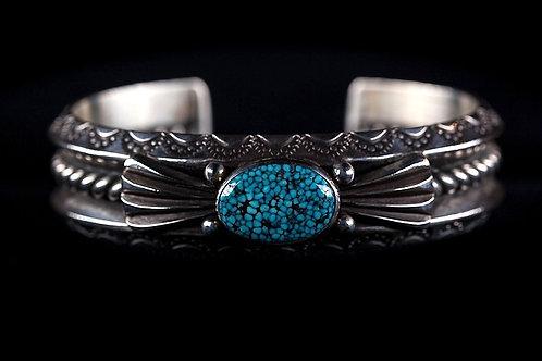 'Ingot' Silver Turquoise Mtn Turquoise Bracelet.