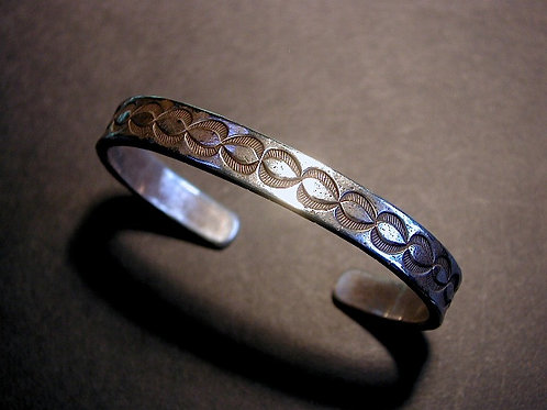 Stamped 'Coin' Silver Bracelet