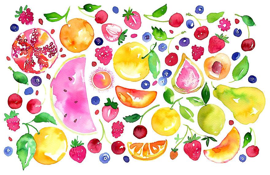Fruit_Pattern_Watercolour_Micador_illust