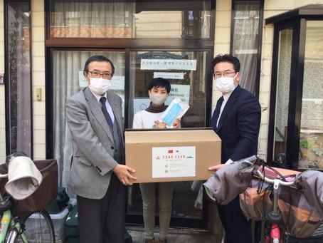 特定非営利活動法人TENOHASIへマスク1千枚を寄付