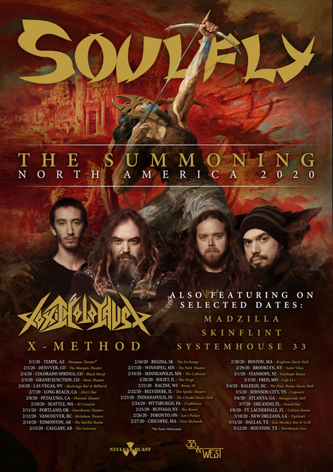 North America Tour w/ Soulfly
