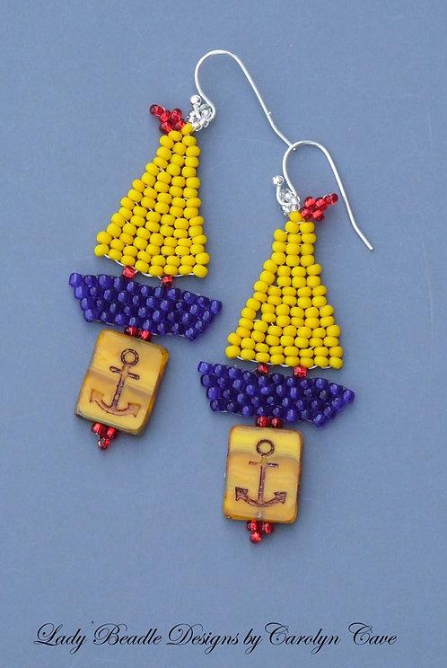 Earrings ~ Sailboat